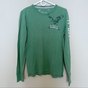 American Eagle Thermal Long Sleeve Tee
